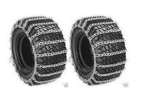 Welironly Pair 2 Link TIRE Chains 24x12-12 for Simplicty Lawn Mower Garden Tractor Rider,#id(theropshop; TRYK80271680541704