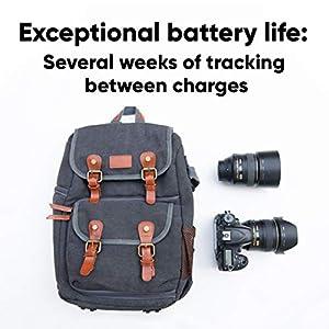 Invoxia GPS Tracker - for Vehicle, Car, Motorcycle, Senior, Kid, Bike, Equipment, Valuable - Amazing Battery Life - 2 Year Data Plan Included - Light, Discrete - 4G & 5G LTE-M, Black