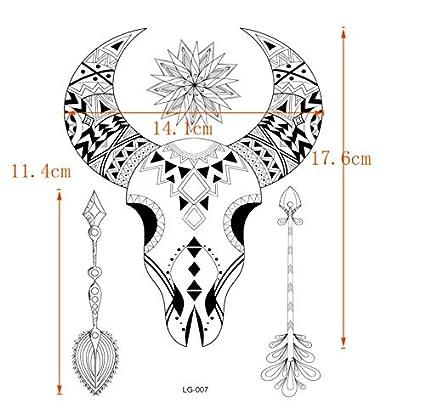 ruofengpuzi Totem Tribe 4Pcs Máscara De Cabeza De Toro Impermeable ...