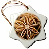 3dRose Closeup of Aniseed, Stellenbosch, Western Cape, South Africa Snowflake Ornament, 3''