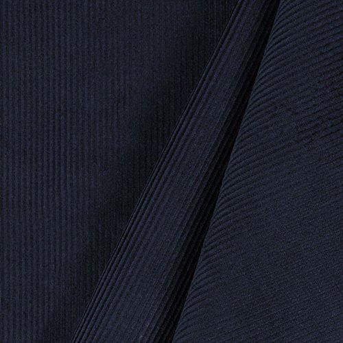 (Navy Blue 11 Wale Corduroy Fabric - By the Yard)