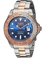 Invicta Mens Pro Diver Quartz Stainless Steel Diving Watch, Color:Two Tone (Model: 24626)