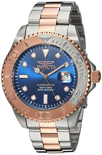 Invicta Men's 'Pro Diver' Quartz Stainless Steel Diving Watch, Color:Two Tone (Model: 24626) by Invicta