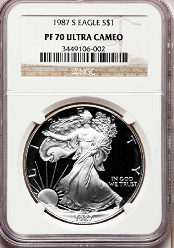 1987 S American Silver Eagle Dollar DCAM NGC PF70