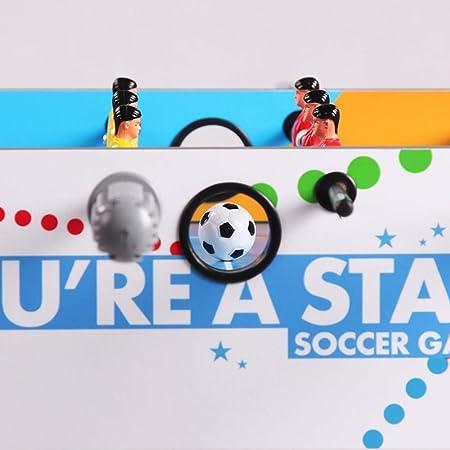SEESEE.U Mesa de Madera para niños Futbolín Familia Ocio Entretenimiento Mesa interactiva Juego de fútbol Niño Juguete Mesa de fútbol Regalo de cumpleaños de Vacaciones (Color: Azul): Amazon.es: Hogar