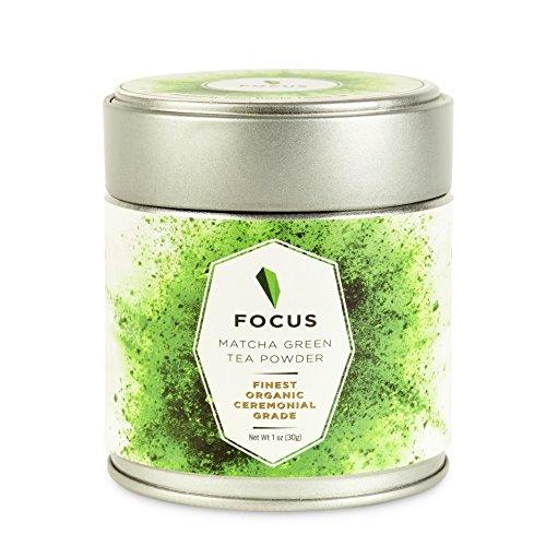 Hyper-Premium Organic Matcha Green Tea Powder Ceremonial Grade + Bamboo Tea Ceremony Spoon + Free 'Matcha Gourmet' Recipe e-Book = Matcha Tea Set - 1 oz (30 servings) per tin can