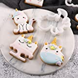 ANZYDEAL 1 Set Unicorn Cookie Stamps Stainless Steel Cookie Biscuit Decoration Mold Animal Shape Cookie Cutters Embossing Mould