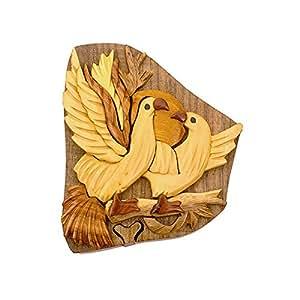 Amazon.com: Handmade Wooden Art Intarsia TRICK SECRET