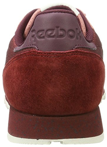 Basses Sneakers Maroon Rugged Descent Homme Sandy Urban Classic Reebok Rouge Chalk Leather Rose Maroon White wZB1SX