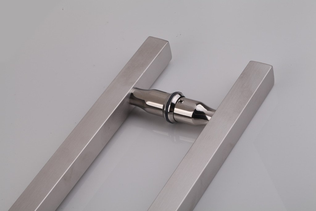 Full Brushed Stainless Steel Finish Xiaxin hardware Products Co TOGU TG-6015 300mm//12 inches Square//Rectangle H-shape Back to Back Stainless Steel Push Pull Door Handle for Solid Wood Ltd Glass and Steel Doors Timber
