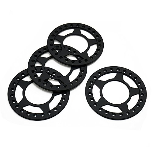 Ring 2.2 Beadlock (RCLIONS 4pcs Matte Black Aluminum Replacement Wheel Rim Beadlock Ring for 1:10 Crawler RC Car 2.2