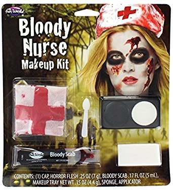 Fun World Women's Horror Charac.Kit, Multi, BLOODY NURSE Standard -