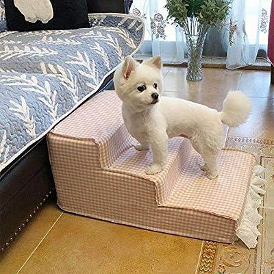 IG Escaleras para perros de 3 peldaños para camas altas y sofá alto, escaleras para mascotas pequeñas y medianas, extraíbles, lavables: Amazon.es: Bricolaje y herramientas