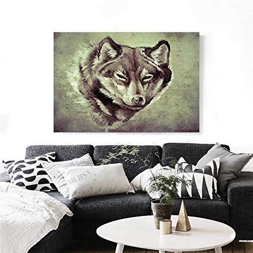 rt Head of Wolf The Fierce Warrior Big Dog of The Forest Winter Season Theme Image Artwork for Wall Decor 24