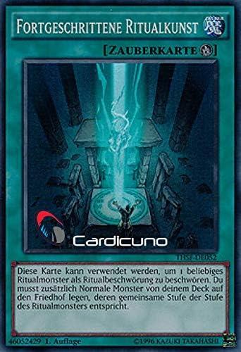 Fortgeschrittene Ritualkunst Deutsch Cardicuno Yu-Gi-Oh! Auflage 1 Mit Toploader Super Rare THSF-DE052