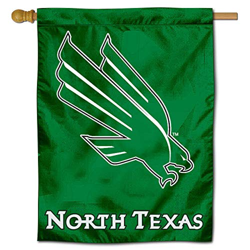 College Flags and Banners Co. University of North Texas Mean Green House Flag (Unt Flag)