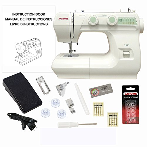 Janome 2212 Sewing Machine Includes Exclusive Bonus Bundle by Janome