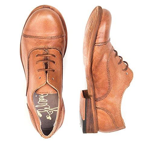 Felmini - Zapatos para Mujer - Enamorarse com Bomber 8039 - Zapatos con cordones - Cuero Genuino - Marrón - 0 EU Size Marrón
