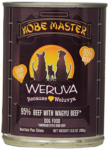 Weruva Dog Food, Kobe Master with American-Style Kobe Beef, 12.8oz Can (Pack of 12)