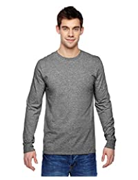 Fruit Of The Loom Mens Sofspun Long Sleeve T-Shirt, JZSFLR, 3XL, Charcoal