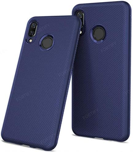 Fortify Twill Texture Series Weave Pattern Thin Shockproof Soft Silicon TPU  Back Cover for Honor 8X (Blue)