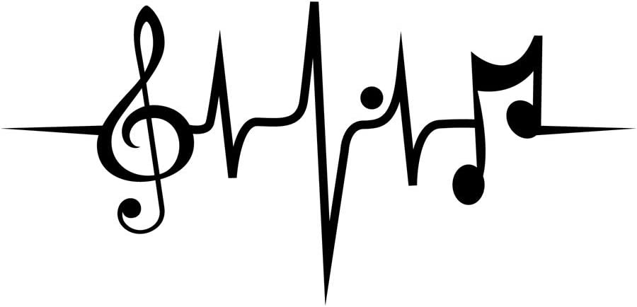 Amazon Com Home Find Creative Heart Rate Wall Vinyl Decals Music Wall Stickers Music Note Vinyl Stickers Of Musical Notes For Music Classroom Musical Symbols For Living Room Decorations 20 5 Inches X 9 8