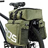 Bike Panniers Waterproof Bag - 3 in 1 Multi Function Messenger Panniers for Bicycles, Bicycle Rear Seat Trunk Bag, Bicycle Saddle Bag for Mountain Cycling by COCO (Army Green)