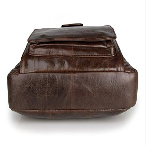 Coffeecolor Leather Leather Shoulder Man Bag Bag Bag Man Bag Leather ANUAN Leather Shoulder ANUAN wxATqOF
