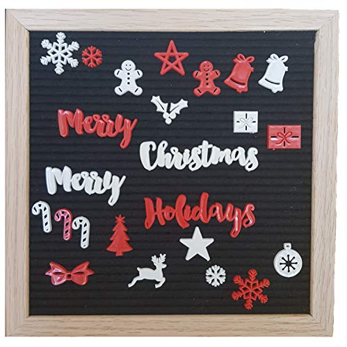 Christmas Letters & Signs for Any Felt Letter Board Words and Symbols for Holiday Season - Board Not Included (Christmas Sayings Bulletin Board)