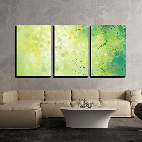 wall26 - 3 Piece Canvas Wall Art - Vector Abstract Spring Background. - Modern Home Decor Stretched and Framed Ready to Hang - 16