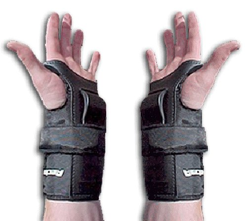 Rector 8101-2-00-0 Performer Wrist Guard, Nylon Fabric, Small, Black (Pack of 2)