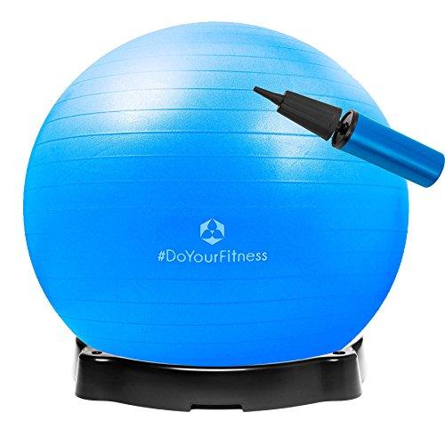 Gymnastikball »Pluto« inklusive Ballschale / Robuster Sitzball und Fitnessball / 75 cm / blau