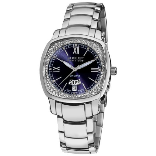 August Steiner Silver-tone Steel Ladies Watch AS8016BU
