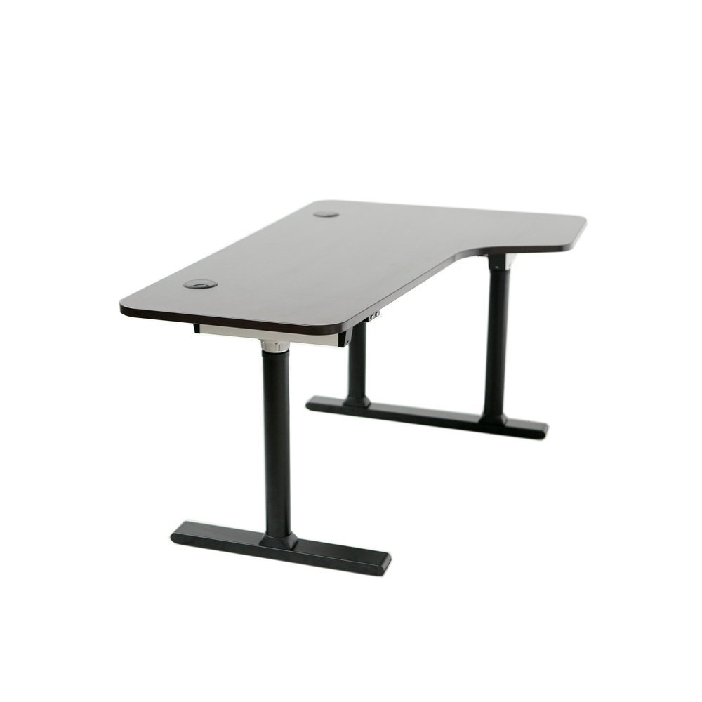 ApexDesk Vortex Series 6-button Electric Height Adjustable Sit to Stand Corner Desk (Espresso Top, Right Return)