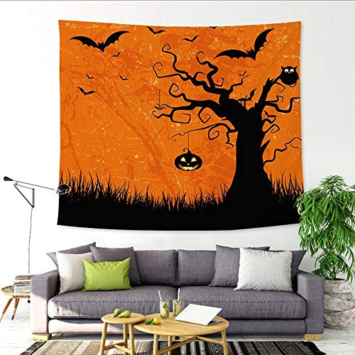 DZT1968  Halloween Tapestry Art Wall Hanging Blanket Room Decor Wall Hangings Bedspreads Wallpaper Art (E)