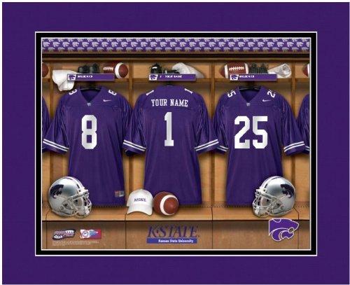 NCAA Locker Room Print Kansas State Wildcats Football Personalized ()
