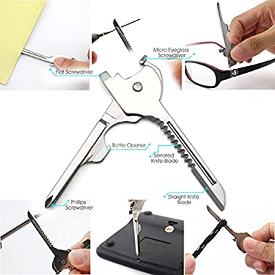 Swiss Tech 6 in 1 Utility Key Multifunctional Mini Folding Key Knife Camping Travel Kit
