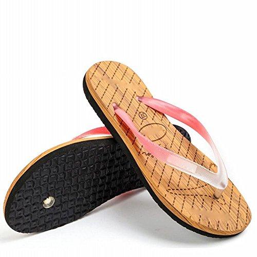 Zapatillas Personalidad Antideslizante de Sandalias A AN Casual Ocio de pies Simples de Verano Playa Sandalias Clip TvIvnSxX