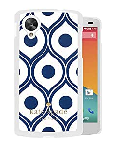 Kate Spade Cover Case For Google Nexus 5 White Phone Case 97