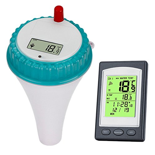 CyberDyer Digital Wireless Floating Hydrotherapy Spa Thermometer With Remote Sensor
