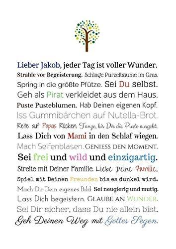 Geschenk Karte Patenschaft Kunstdruck Taufe Patenkind