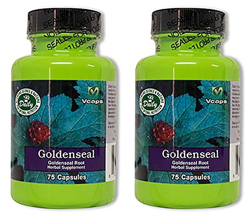 Daily Manufacturing Goldenseal Root Herbal Supplement 75 Capsules, 2 Pack by Daily Manufacturing