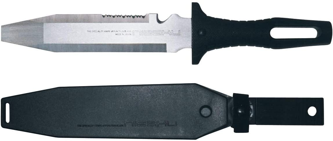 Tomita, No.820 Hori Knife Garden Tool, Outdoor Knife, Clam Opening Knife with 7-inch Stainless Steel Blade