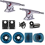 TGM Skateboards Paris 180 Raw Longboard Trucks Wheels Package 70mm Sliding Wheels Blue