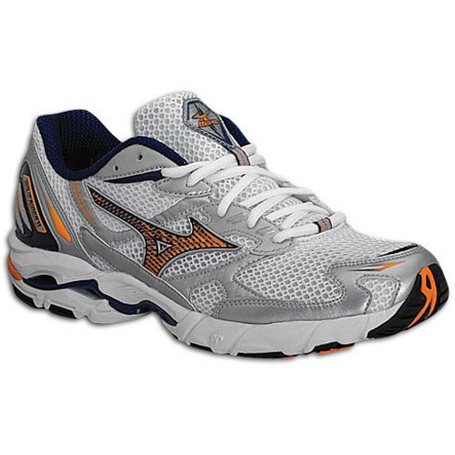 Mizuno Wave Rider 11 Cushion Running Shoe Mens - White/Orange/Blue 10.5 ubR7RKljx