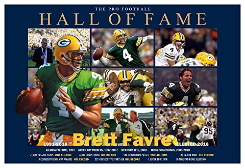 PosterWarehouse2017 PACKERS GREAT BRETT FAVRE ELECTED TO THE HALL OF FAME COMMEMORATIVE POSTER
