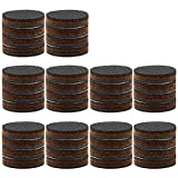 40 PCS Non Slip Furniture Pads,ULIFESTAR Round Furniture Grippers Sliders,Self Adhesive Rubber Felt Furniture Pads,Non Skid Hardwood Floor Protectors for Chair Table Desk Leg Feet (1.5'', Round)