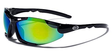 X-Loop Sonnenbrillen Mask - Radfahren - Skifahren - Tennis - Running - Motorrad / Blade Schwarz Grün Iridium Spiegel p7uFP2jP