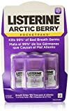 Listerine PocketPaks Breath Strips, Arctic Berry, 3 24-Strip Packs