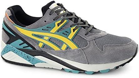 ASICS Gel Kayano H502N-1159 Mens Trainers H502n-1159-Zapatillas de Deporte para Hombre, Gris/Amarillo/Lima, UK4: Amazon.es: Ropa y accesorios